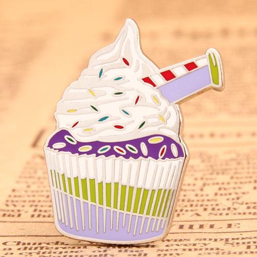 Cake hard enamel pins