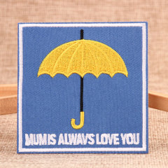 Yellow Umbrella Embroidered Patches