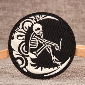 Skull On The Moon Make Custom Patches