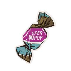 DC Shoes Uper Pop Custom Stickers