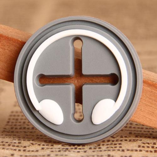 Grey Circle PVC Patches