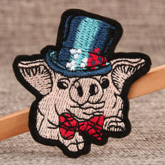 Pig in Hat Custom Patches Online