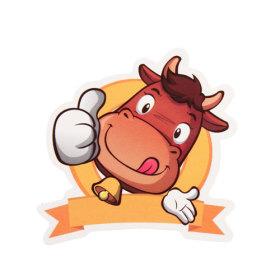 Cartoon Cattle Custom Stickers