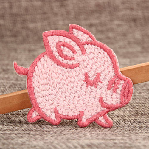 Pink Pig Custom Embroidered Patches