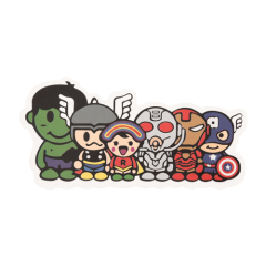 Comic Hero Group Custom Stickers