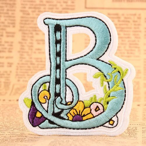 Letter B Iron On Embroidered Patches