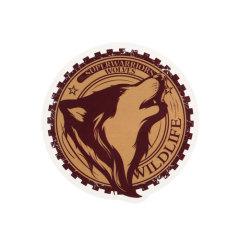 Wild Wolf Custom Stickers