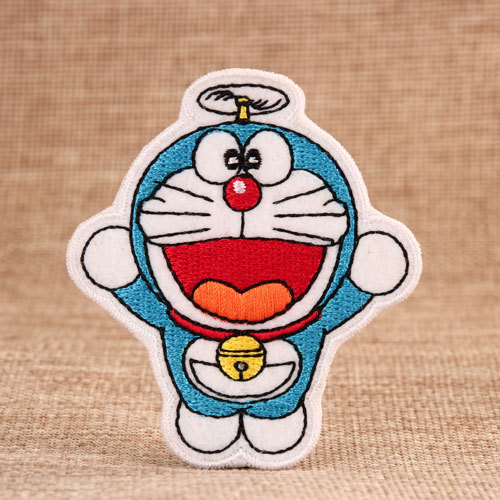 Flying Doraemon Embroidered Patches