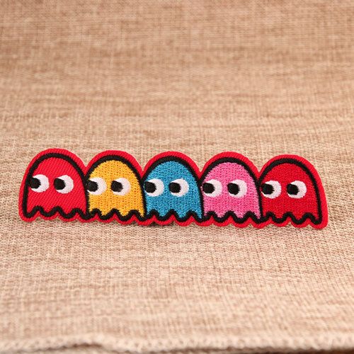 Pac Man Iron On Embroidered Patches