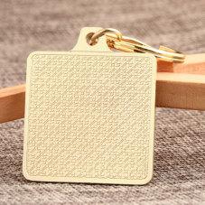 Golden Square Blank Custom Keychains