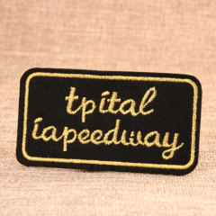 Letter Custom Embroidered Patches No Minimum