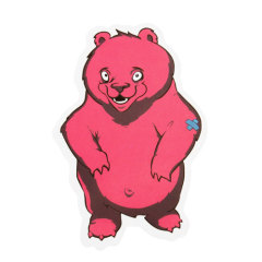 Pink Bear Custom Stickers