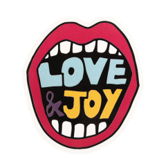 Love And Joy Custom Stickers