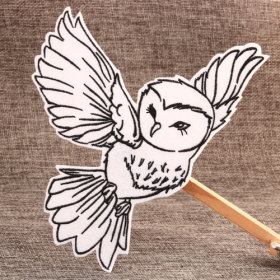 Flying Owl Iron On Embroidered Patches