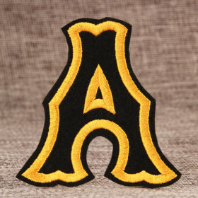 Letter A Cheap Custom Patches