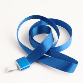 Blue Blank Lanyards