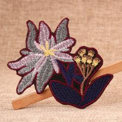 Pretty Flowers Custom Patches No Minimum