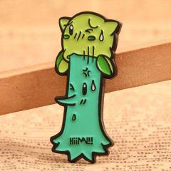Cartoon Tree Pin Design