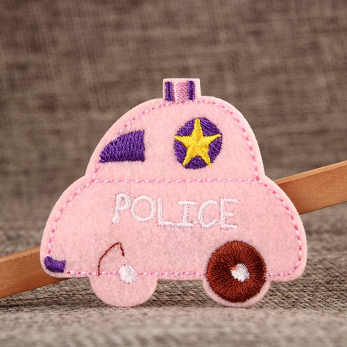 Police Car Custom Made Patches