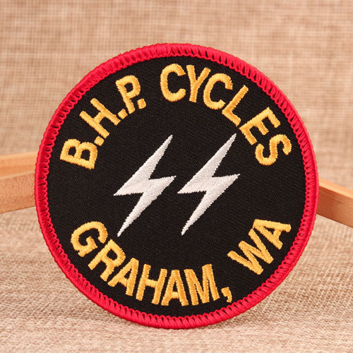 BHP Cycles Embroidered Patches