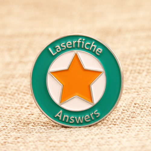Laserfiche answers Soft Enamel Pins