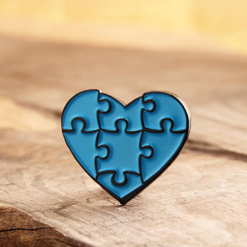 Blue Heart Soft Enamel Pins