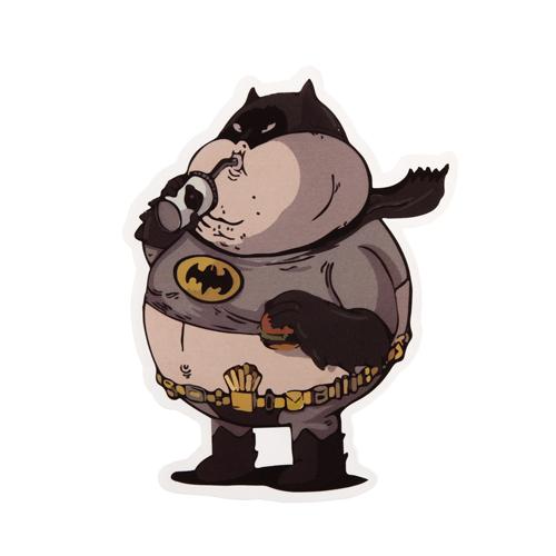Funny Fat Batman Custom Stickers