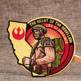 Rebellion Custom Military Patches No Minimum Order