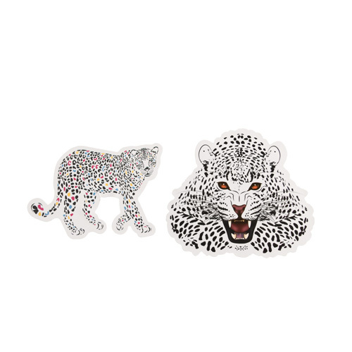 Cartoon Leopard Custom Stickers