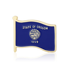 Oregon State Flag Pins