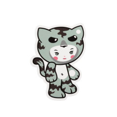 Tiger Girl Custom Stickers