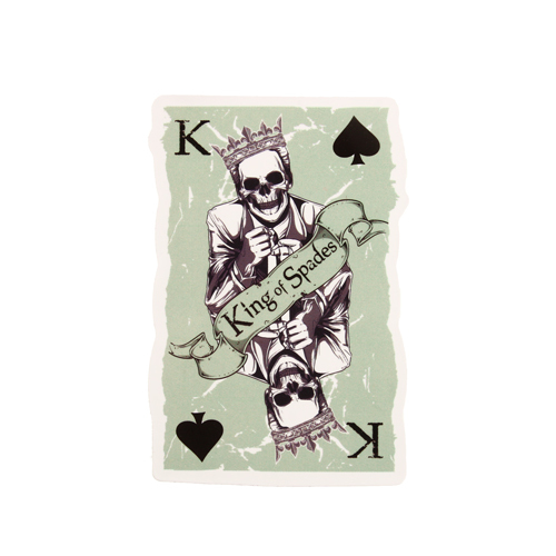 King Of Spades Custom Stickers