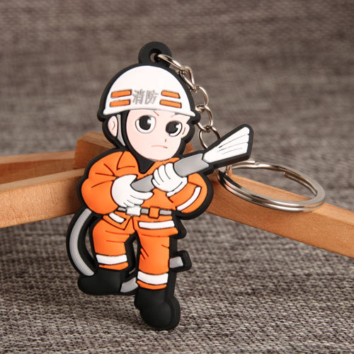 Firefighter PVC Keychain