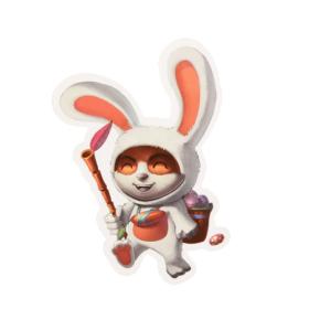 Cute Rabbit Custom Stickers