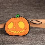 Pumpkin PVC Keychain
