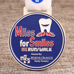 Miles for Smiles 5K Running Medals