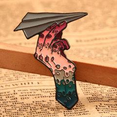 Custom PaperPlaneLapel Pins