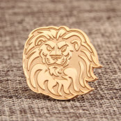 Custom Lion Enamel Pins