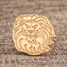 Custom Lion Enamel Pins