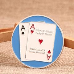 Vegas Poker Custom Challenge Coins