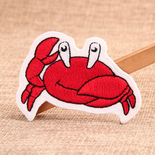 Crab Custom Embroidered Patches No Minimum