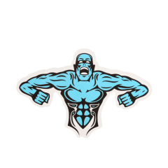 Muscle Man Custom Stickers