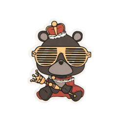 King Bear Custom Stickers