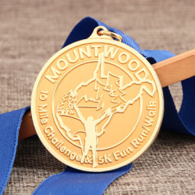 Mountain Wood Running Medals