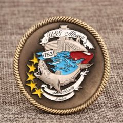 USS ALBANY Navy Challenge Coins