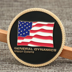 General Dynamics Custom Challenge Coins