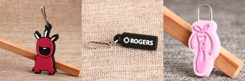 PVC zipper pulls