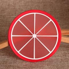 Red Round PVC Coaster