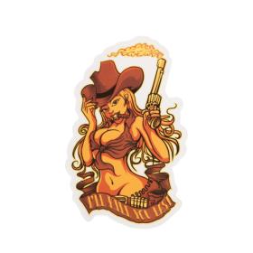 Sexy Cowgirl Custom Stickers