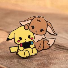 Pikachu and Eevee Lapel Pins